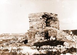 Ixchel temple before hurricane